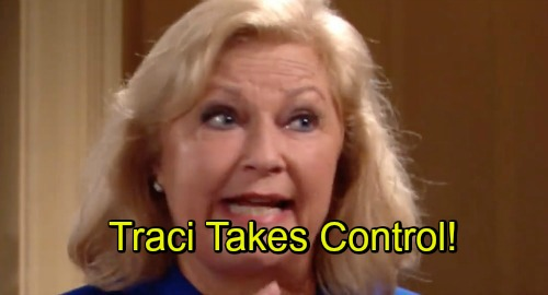 The Young and the Restless Spoilers: Dina's Memories Force Traci to Take Control of Abbott Family, Saves Ashley's Y&R Farewell