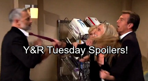The Young and the Restless Spoilers: Tuesday, October 17 - Dina In ICU With Stroke – Nick's Touching Move Restores Peace