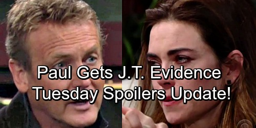 The Young and the Restless Spoilers: Tuesday, April 24 Update – Paul Gets J.T. Evidence – Hilary GC Buzz Pregnancy Announcement