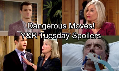 The Young and the Restless Spoilers: Tuesday, April 10 – Ashley Takes Control of Newman – Kyle Wants the Truth from Dina