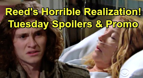 The Young and the Restless Spoilers: Tuesday, December 18 – Reed's Horrifying Realization – Cane Busts Charlie – Nikki Struggles to Survive