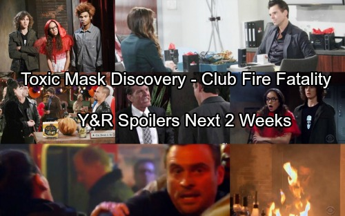 The Young and the Restless Spoilers: Next 2 Weeks - Life or Death At The Underground Fire - Toxic Face Mask Reveal