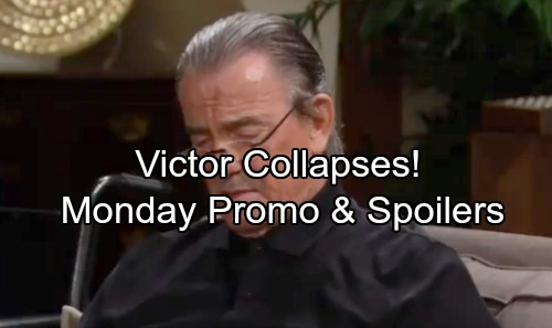 The Young and the Restless Spoilers: Monday, April 30 Update – Victor Collapses – Hilary's Sperm Sample Plot – Faith's Bad News