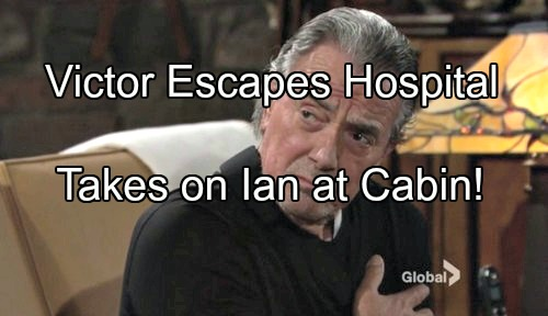 'The Young and the Restless' Spoilers: Victor Gives Guard the Slip, Escapes Hospital for Showdown with Ian