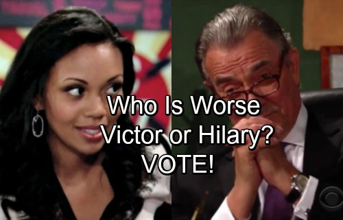 The Young and the Restless Spoilers: Who Is Worse – Victor or Hilary?