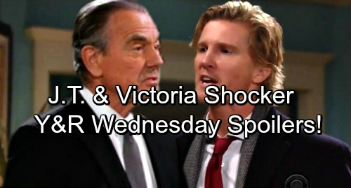 The Young and the Restless Spoilers: Wednesday, March 21 – Vicious Victor Traps His Prey – Victoria and J.T. Relationship Shocker