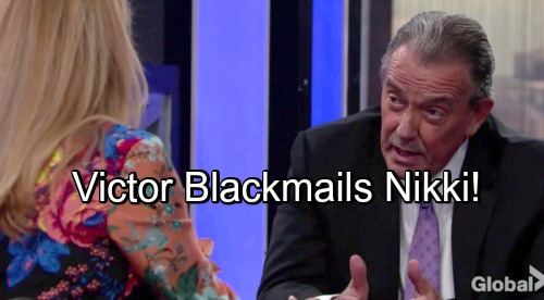 The Young and the Restless Spoilers: Victor Reveals Startling J.T. Blackmail – Nikki Forced To Support His Custody Fight