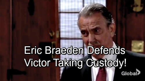 The Young and the Restless Spoilers: Eric Braeden Defends Victor Taking Custody of Christian from Heartbroken Nick