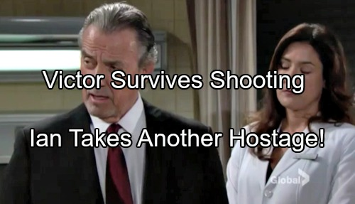 'The Young and the Restless' Spoilers: Ian Hides at Cabin, Ties Up Phyllis and Nikki - Victor Survives Shooting, Faces Kids