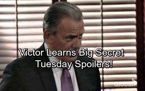 The Young and the Restless Spoilers: Tuesday, January 16 – Victor Learns a Huge Secret – Devon Confides in Mariah