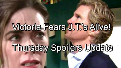 The Young and the Restless Spoilers: Thursday, June 21 Update – Victoria Suspects J.T.'s Alive – Abby's Shocking Discovery