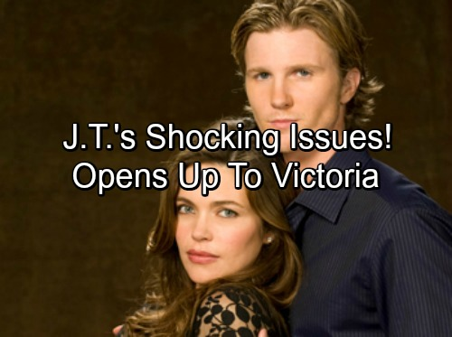 The Young and the Restless Spoilers: J.T. Returns with Shocking Issues – Shares Problems and Reconnects with Victoria