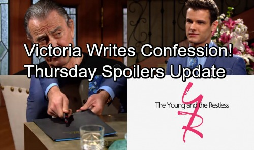 The Young and the Restless Spoilers: Thursday, May 3 Update – Victoria Writes Confession Letter – Kyle Talks Secret Weapon
