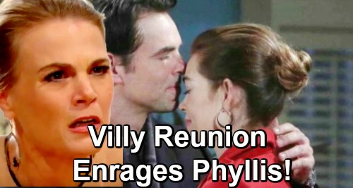 The Young and the Restless Spoilers: Phyllis Insanely Jealous Over Villy Reunion – Coverup Crew Turn On Each Other