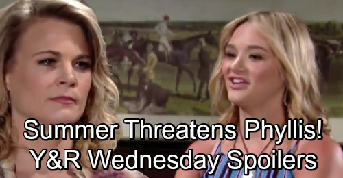 The Young and the Restless Spoilers: Wednesday, September 5 – Raging Summer Threatens Phyllis with Exposure – Kyle's Heroic Move