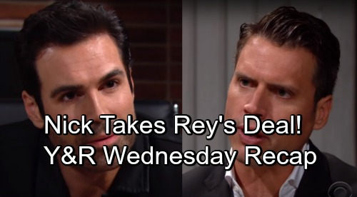 The Young and the Restless Spoilers: Wednesday, September 12 Update – Nick Takes Rey's Deal – Victor's Bombshell