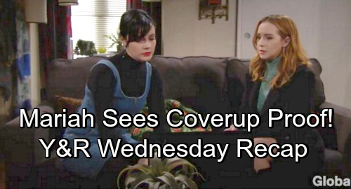 The Young and the Restless Spoilers: Wednesday, November 14 Recap – Tessa Stuns Mariah with Blackmail Confession and Coverup Crew Proof