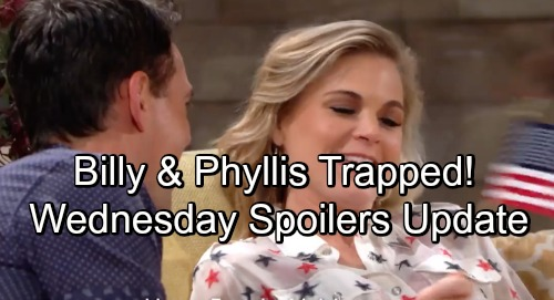 The Young and the Restless Spoilers: Wednesday, July 4 Update – Billy and Phyllis Trapped – Esther Warns Cane