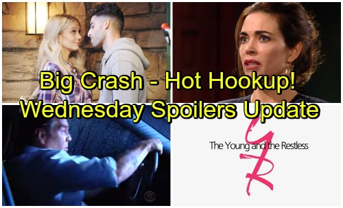 The Young and the Restless Spoilers: Wednesday, May 16 Update – Jack's Car Accident – Victoria Caught – Abby and Arturo Hook Up