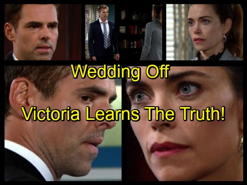 'The Young and the Restless' Spoilers: Wedding Off - Victoria Breaks Up With Travis Over Michelle - Billy To Blame