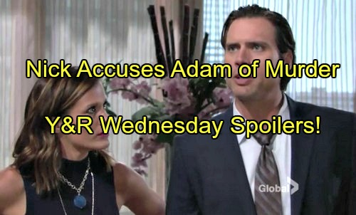 The Young and the Restless (Y&R) Spoilers: Nick Demands Adam's Arrest, Says Sage's Journal Points to Murder