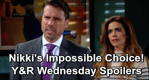 The Young and the Restless Spoilers: Wednesday, December 5 – Nikki Must Choose – Victoria and Cane Team Up – Abby Presses Her Luck