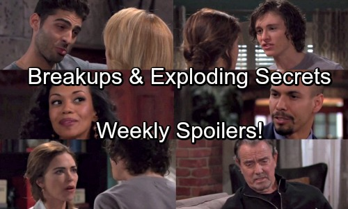The Young and the Restless Spoilers: Week of April 23 – Big Bombshells - Breakups, Pregnancy and Exploding Secrets