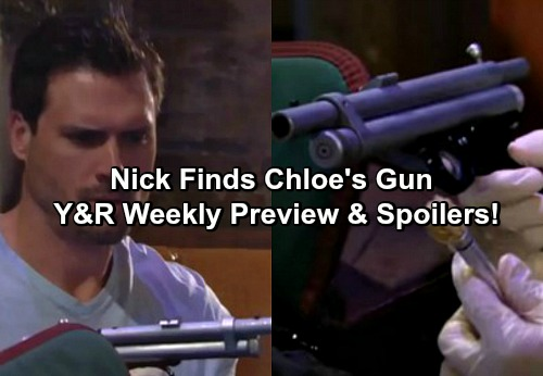 The Young and the Restless Spoilers: Weekly Spoilers - Nick Finds Chloe's Dart Gun Used On Adam, Chelsea Horrified