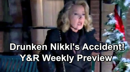 The Young and the Restless Spoilers: Y&R Preview December 10-14 – Drunk Nikki's Deadly Accident – Vengeful Reed's Threats