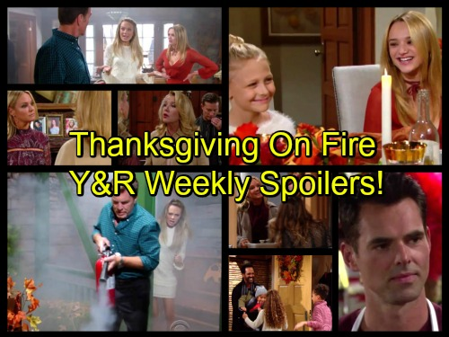 The Young and the Restless Spoilers: Nikki Bans Sharon from Newman Thanksgiving - Fire at Abbott Cabin