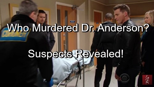The Young and the Restless Spoilers (Y&R): Who Killed Dr Anderson - List of Suspects Revealed (POLL)