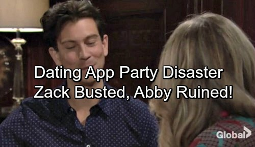 The Young and the Restless Spoilers: Dating App Party Chaos, Zack Busted – Fun Night Turns Into Total Disaster
