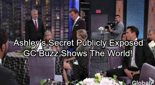 The Young and the Restless Spoilers: Ashley's Paternity Secret Publicly Exposed – GC Buzz Serves As Vehicle