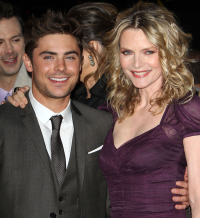 Zac Efron: Kissing Michelle Pfeiffer Wasn't Pleasant