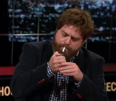 Zach Galifianakis Lights A Joint On TV [Video]